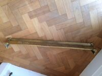 Brass fender for fireplace. Vintage/antique. 103cm long.