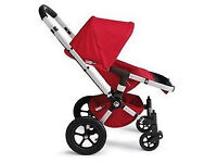 Red Bugaboo travel system