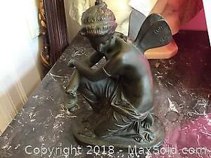 Kneeling Psyche bronze.