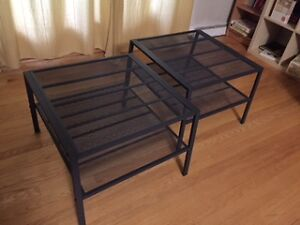 Square Coffee Tables, set of 2