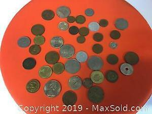 lot of 40 old coins