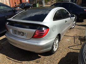 mercedes c180 2 door coupe manual breaking spares /parts call thanks