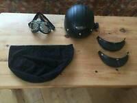 Open face crash helmet