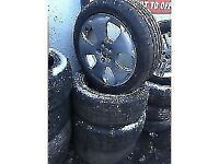 audi a3 2008 17 INCH ALLOY WHEELS 5 STUD 225/45R17 TYRES SET OF FOUR