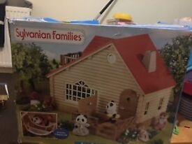 Sylvanian Families log cabin - in box
