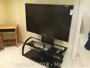 Tv, Stand And DVD Player C