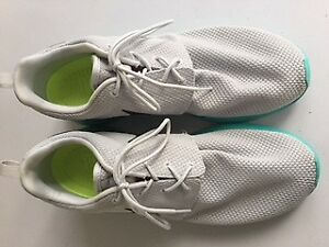 Lightly Worn Nike Roshe Run Mens Sneakers Size 12 Grey/Teal