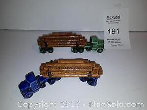 2 Ceramic Logging Trucks