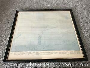 Ontarios First Survey For Kingston Settlement Framed Print