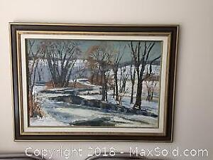 Large Oil On Board Signed Lower Left A