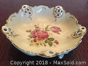 Rosenthal Pierced Three Footed Moliere Bowl
