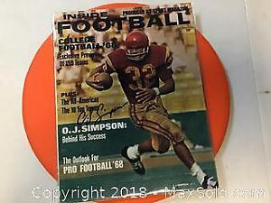 Original Hand Signed OJ. Simpson 1968 Magazine