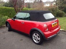 2006 Convertible red mini,MOT until nov 2017,good condition