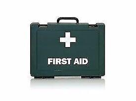 First Aid Kits stocked with bandages, wipes, plasters etc etc