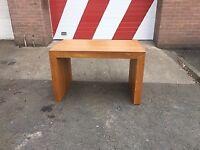 Custom made oak / oak veneer desks + shelving unit