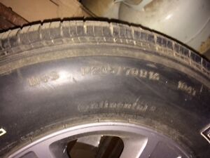 1 tire, M&S, with sports rim for Ford Escape Gatineau Ottawa / Gatineau Area image 2