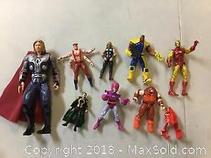 Lot Of Marvel Action Figures