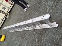 20' extendable ladder with a 5' step ladder