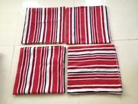 Four Red Cushion Covers
