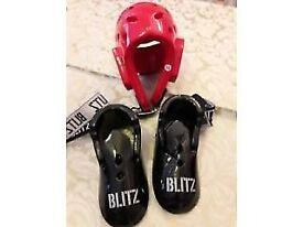 Kids Martial Arts Protective Gear - Head Gear and Foot Guards
