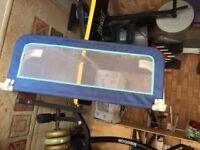 Blue Bed Rail