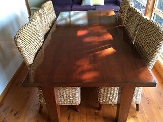 Dining Table and six Chairs Grays Point Sutherland Area Preview