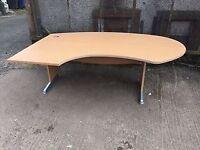 Large left hand reception table / office desk