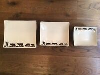 Unusual china dinner set of 6 plates,7 side plates and 5 bowls