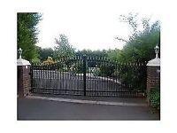 metal driveway gates fencing