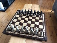 Isle of Lewis Chess Set and Board, Mint Condition