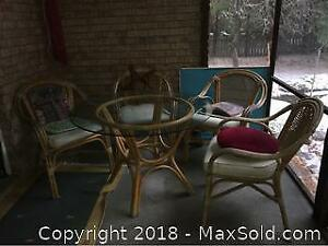 Rattan Outdoor Table And Chairs B