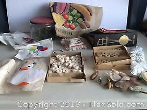 Lot Vintage Craft Supplies