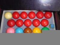 Full set match belgium crystal snooker balls