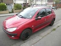 Peugeot 206 GLX, Lady Owner, 1 Years' MOT & Tax - Excellent Condition