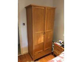 Solid Oak Wardrobe for Sale - £110 ono