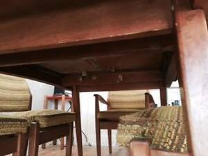 retro dining set,extendable table with 6 chairs-60s/70s in vgc South Melbourne Port Phillip Preview
