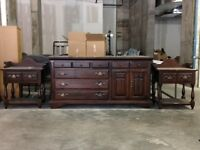 REDUCED ! 4 Piece Solid Pine Bedroom set