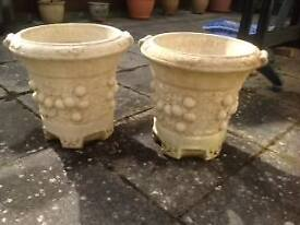 A Pair of Willowstone planters