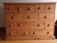 Multi draw wooden chest
