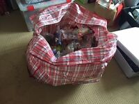 Job lot - 123 bagged kids toys (Kids Meal Toys) - used for party bags/lucky dip - open to offers