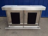 Mobile bar. Stainless steel. Top of the range