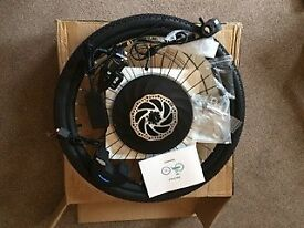 YUNZHILUN iMortor 26 inch Smart Electric Front Bicycle Wheel - BLACK