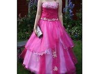 Prom dress in fuchsia pink
