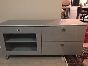 Grey Metal Storage/Entertainment Unit for sale