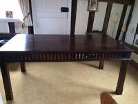 Mahogany coloured wood table