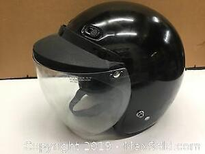Motorcycle helmet with visor, size Large