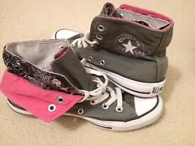Pink / Grey Converse All Stars - Brand New / used once - size 4.5 (UK)