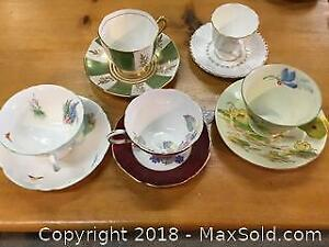 Lot of Teacups Including Shelley and Paragon