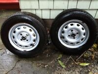 Reduced ! Two Honda Civic Wheels w Winter Tires with - $100 (vic