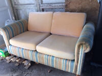 2 seater sofa bed. Covers available too.